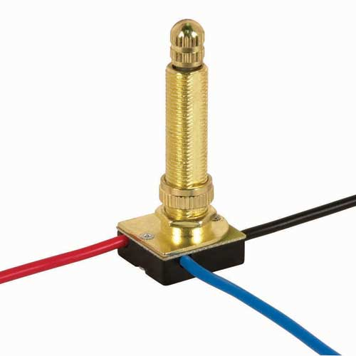 Rotary Switch, 3Way - Brass 1 1/2