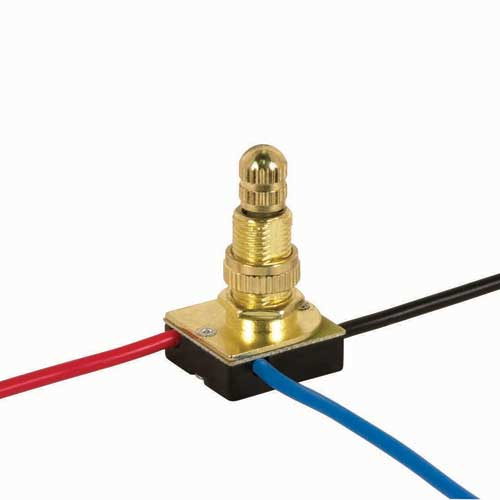 Rotary Switch, 3Way - Brass 3/8