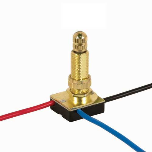 Rotary Switch, 3Way - Brass 5/8