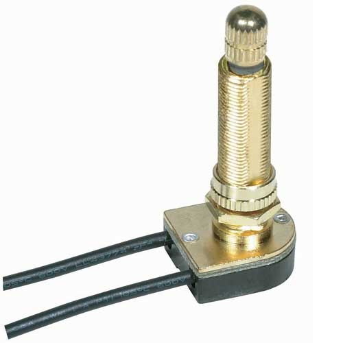 Rotary Switch, On/Off - Brass 1 1/2