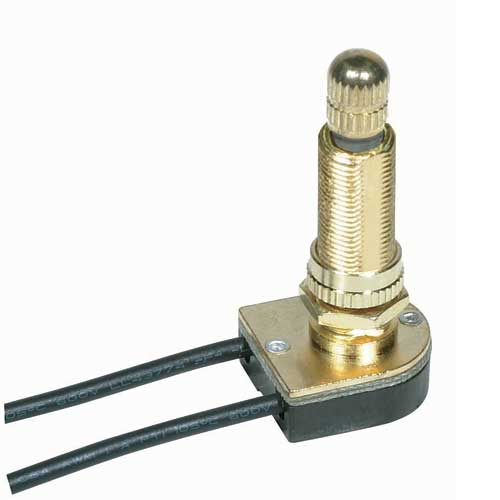 Rotary Switch, On/Off - Brass 1 1/8