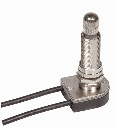Rotary Switch, On/Off - Nickel 1 1/8