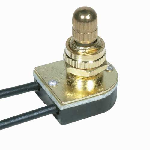Rotary Switch, On/Off - Brass 3/8