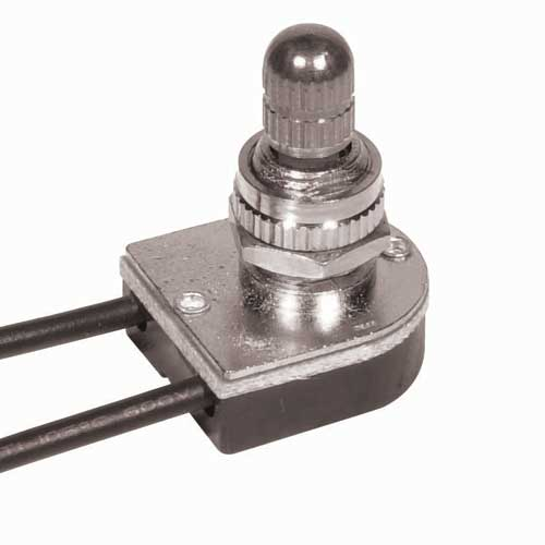 Rotary Switch, On/Off - Nickel 3/8