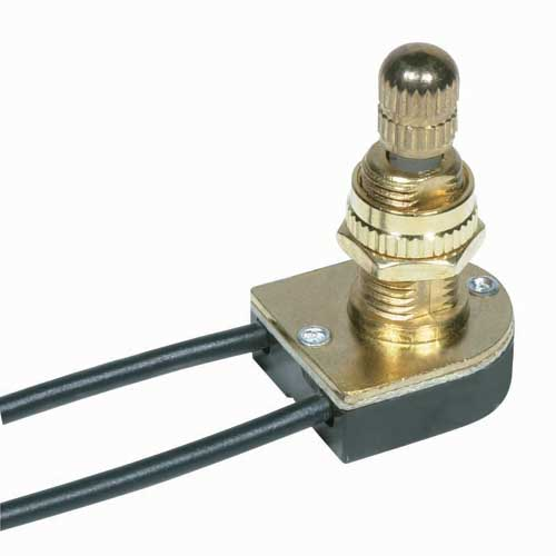 Rotary Switch, On/Off - Brass 5/8