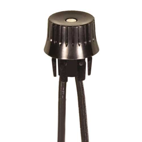 Rotary Switch, On/Off - Black Phenolic Knob Snap Bushing