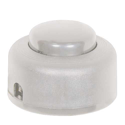 White Step On Button Switch On/Off - 2A-125V, 1A-125V, 1A-250V