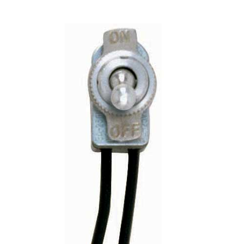 Toggle Switch On/Off - Nickel Finish  3/8